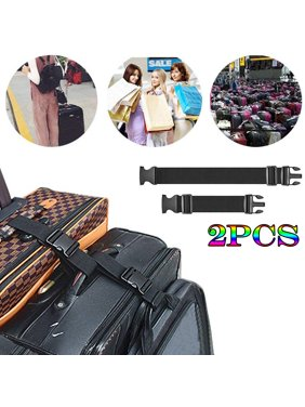 2pcs Two Add a Bag Luggage Strap Travel Luggage Suitcase Adjustable belt Travel