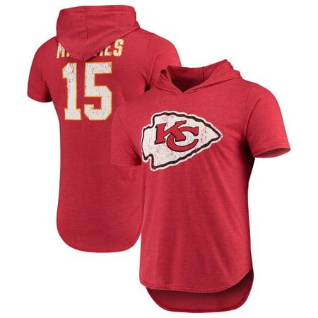 best service f1a65 7b1b1 Patrick Mahomes Kansas City Chiefs Majestic Threads Hooded Name & Number  Tri-Blend T-Shirt - Red - Walmart.com