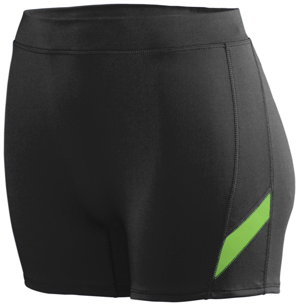 Augusta Girls Stride Short Blk/Lime M - image 1 de 1