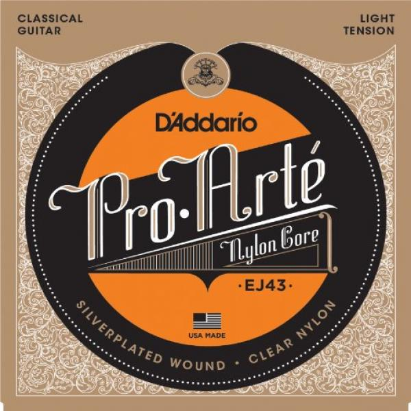 D'Addario EJ43 Pro-Arte Nylon Classical Guitar Strings, Light Tension by
