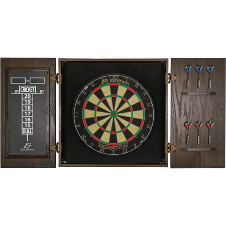EastPoint Sports Redington Official Size Bristle Dartboard & Cabinet (Ncaa Wood Dartboard Cabinet)