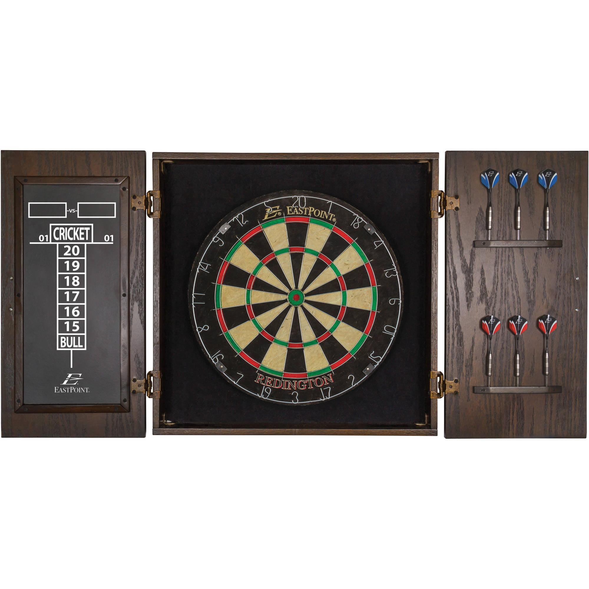 EastPoint Sports Redington Official Size Bristle Dartboard & Cabinet Set
