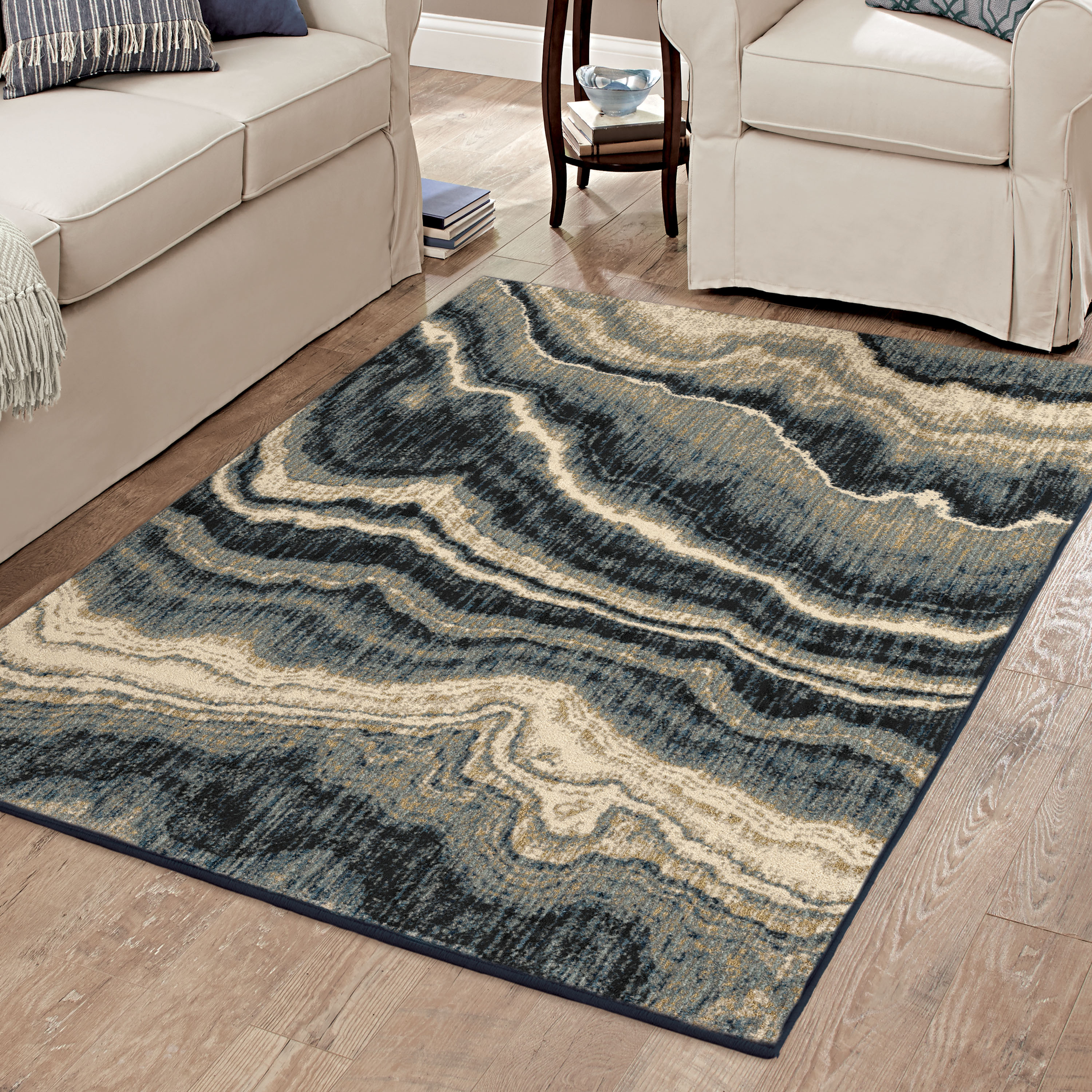 Better Homes & Gardens Midnight Marble Area Rug or Runner