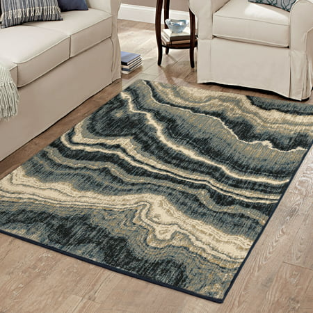 Better Homes And Gardens Midnight Marble Area Rug Or