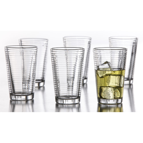 Style Setter Uptown 14 oz. Glass Every Day Glass (Set of 6)