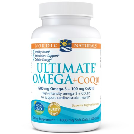- Nordic Naturals Ultimate Omega + CoQ10 Softgels, 1280 Mg, 60 Ct