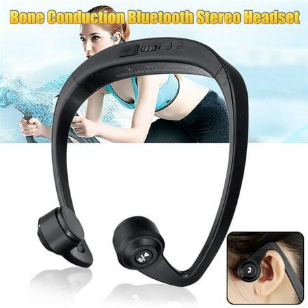 Open Ear Headset Bone Conduction Wireless Headphones 4.2 Stereo Open Ear Headset