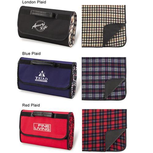 Picnic Ascot 211-RP Picnic Blanket Tote - Red Plaid
