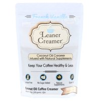 Leaner Creamer, Powdered Coffee Creamer, French Vanilla Flavor Creamer, 9.87 Ounces Pouch