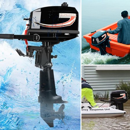 Ancheer 6HP Ship Outboard Electric Motor Boat Engine Updated With 2