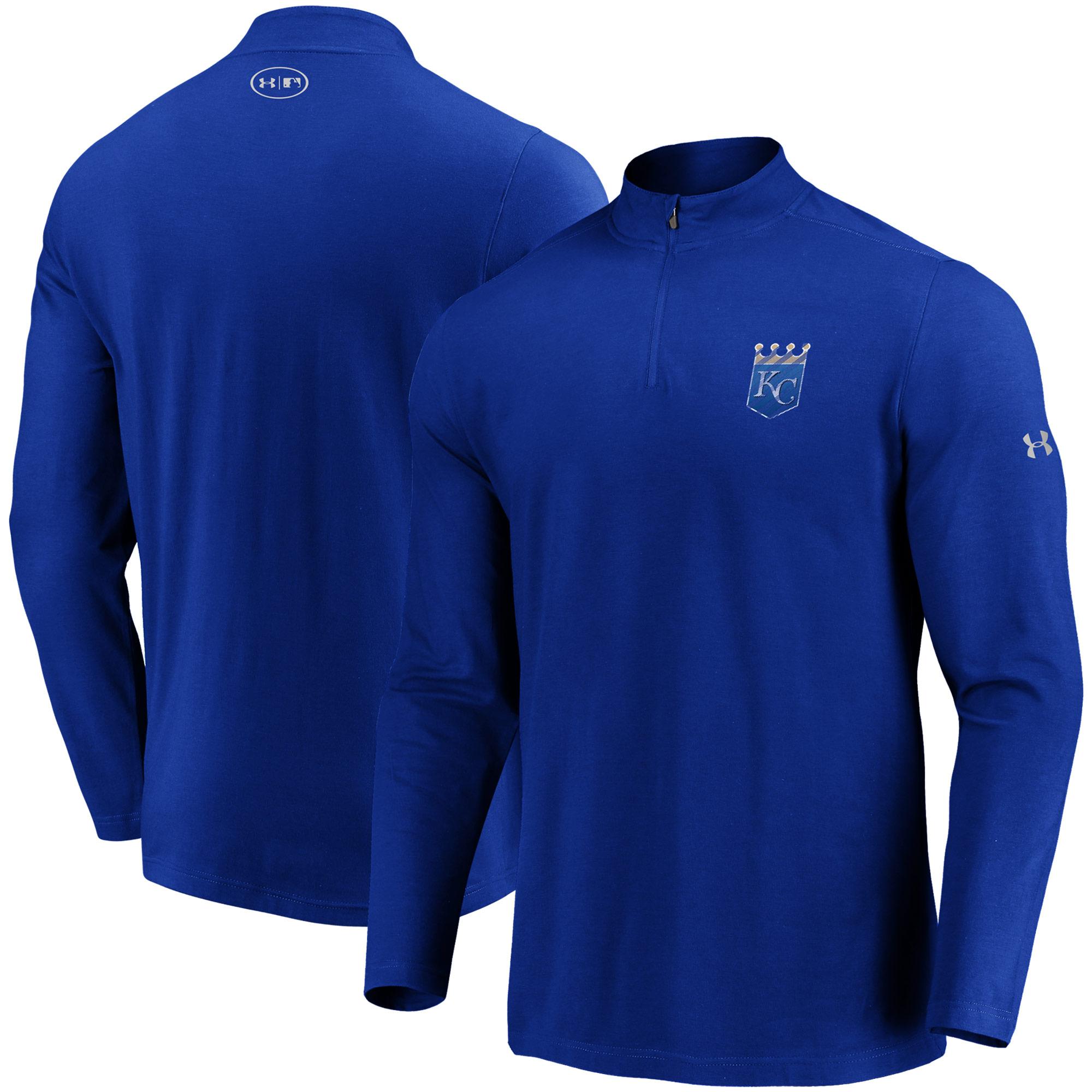 Kansas City Royals Under Armour Passion Alternate Left Chest 1/4-Zip Jacket - Royal