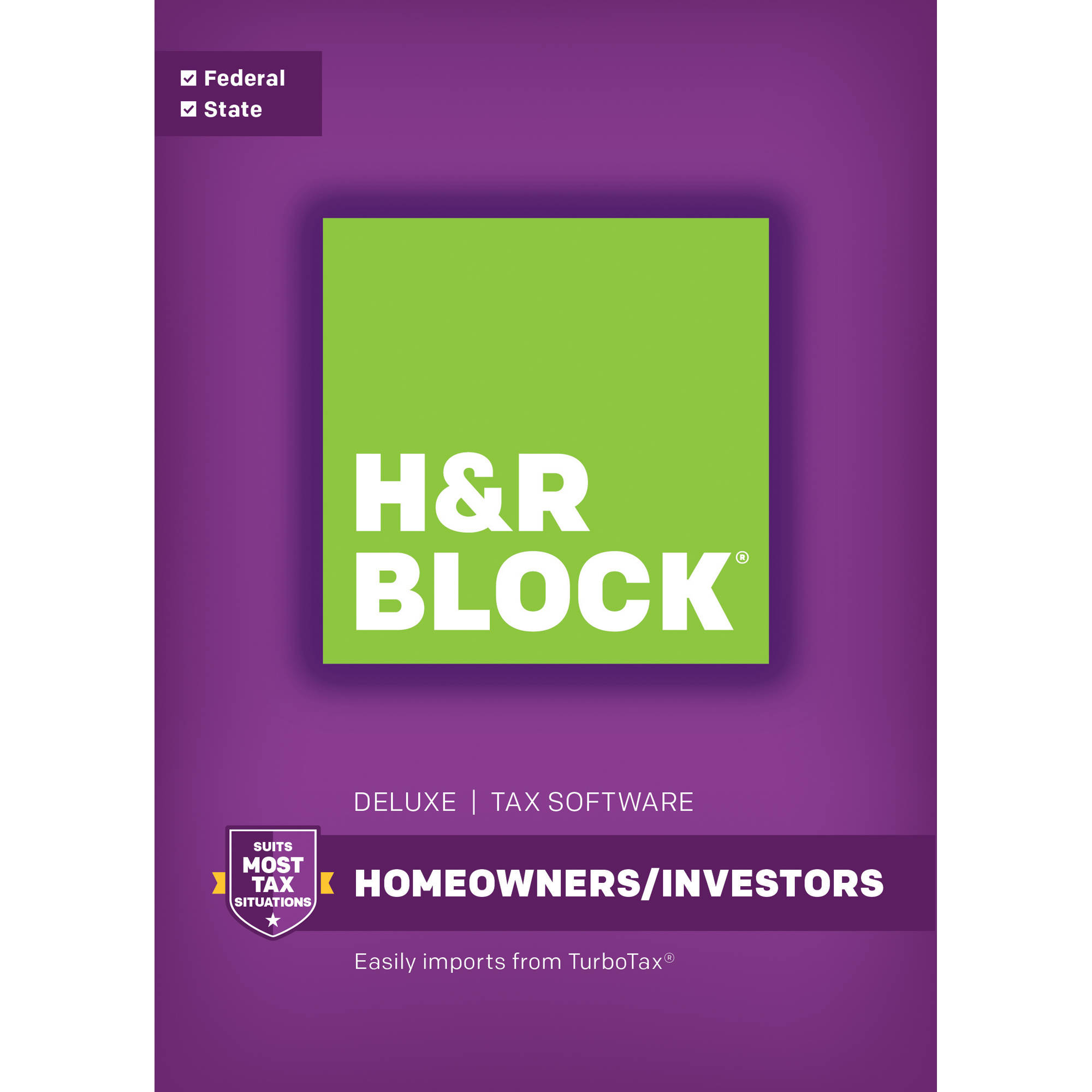 H&R Block 16 Deluxe Tax Software (Federal and State) for Windows (Email Delivery)