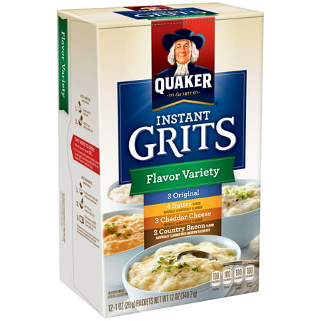 Flavor 1 Packet ((4 Pack) Quaker Instant Grits, Flavor Variety Pack, 1 oz Packets, 12 Count)