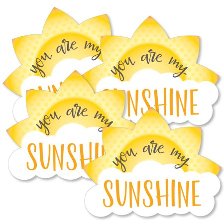 You Are My Sunshine - Sun and Cloud Decorations DIY Baby Shower or Birthday Party Essentials - Set of 20