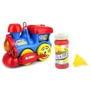 Miracle Bubble Train Battery Operated Bubble Blowing Children Kid's Bump and Go Toy Train w/ Cool Flashing Lights, Sounds