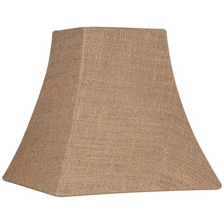 Brentwood Burlap Square Lamp Shade 5.25/5.25x10x10x9.5 (Spider) 1 Light Bracket Square Shade