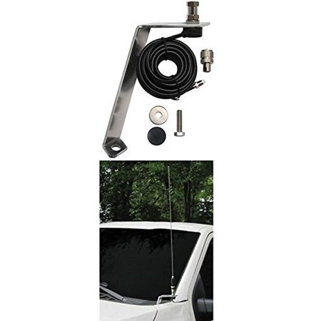 FORD F-150 Front Hood Antenna Mount For Amateur Ham Commercial and CB Two Way Antennas With -