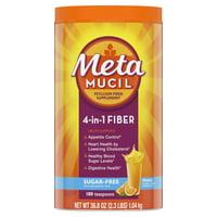Metamucil Psyllium Sugar-Free Fiber Supplement Powder, Orange 180 Tsp
