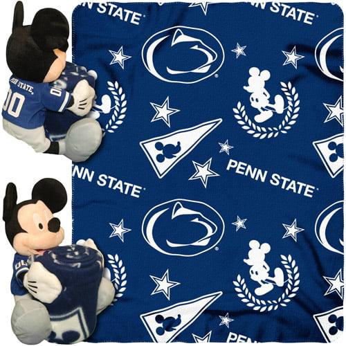 "Disney NCAA Hugger Pillow and 40"" x 50"" Throw Set, Penn State Nittany Lions"
