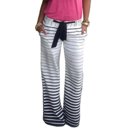 Summer Womens Floral Boho Harem Wide Leg Long Pants Palazzo