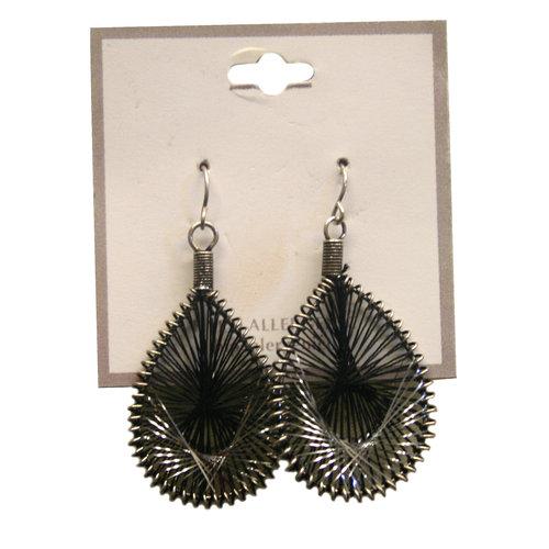 Essentials Thread Dream Catcher Silver Tone Drop Earrings