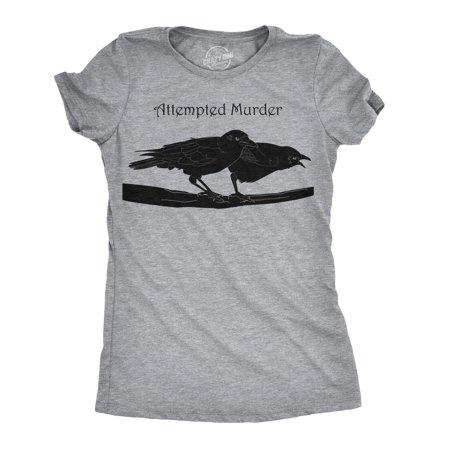 Women's Attempted Murder T Shirt Funny Crow Shirt Birds Tee for - T Birds
