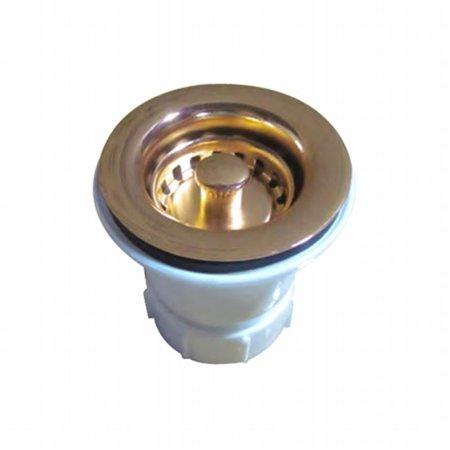 2 in. Basket Strainer - Polished Brass
