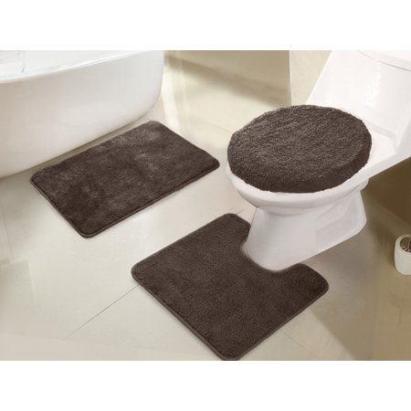 State 3 Piece Bath (Imperial 3-Piece Bath Rug Set in Chocolate)