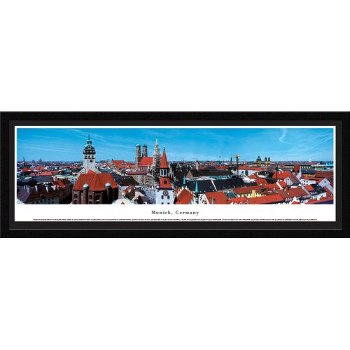 Munich, Germany - Roof Top - Blakeway Panoramas Print with Select Frame and Single Mat
