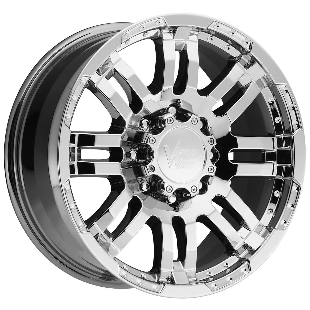 "18"" Inch Vision 375 Warrior 18x8.5 5x114.3 (5x4.5"") +18mm PVD Chrome Wheel Rim"