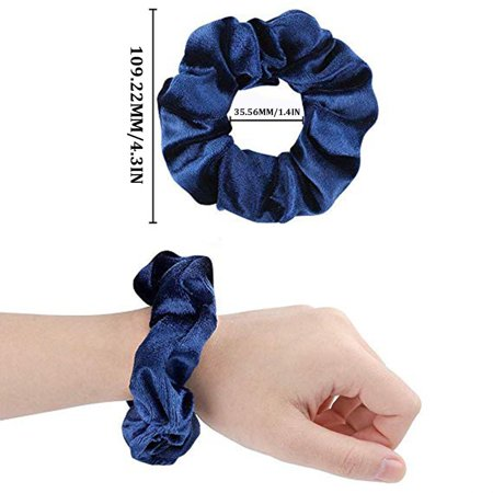 Fleece Hair Ring Multi-Color Optional Gold Velvet Hair Ring Hair Accessories Professional Fashion Portable - image 5 of 10