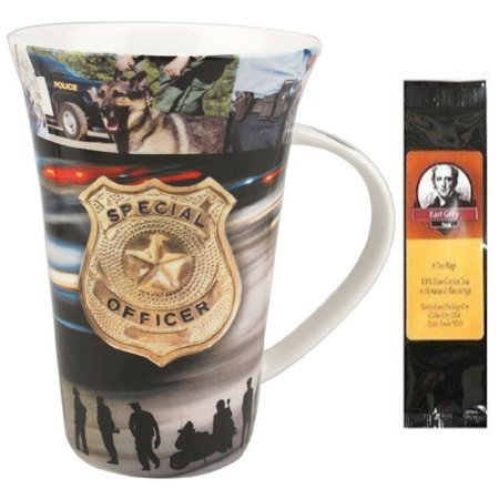 Police Officer, To Serve and Protect Crest Coffee Mug in a Matching Gift Box and Tea Gift Package - Gift Ideas For Police Officers