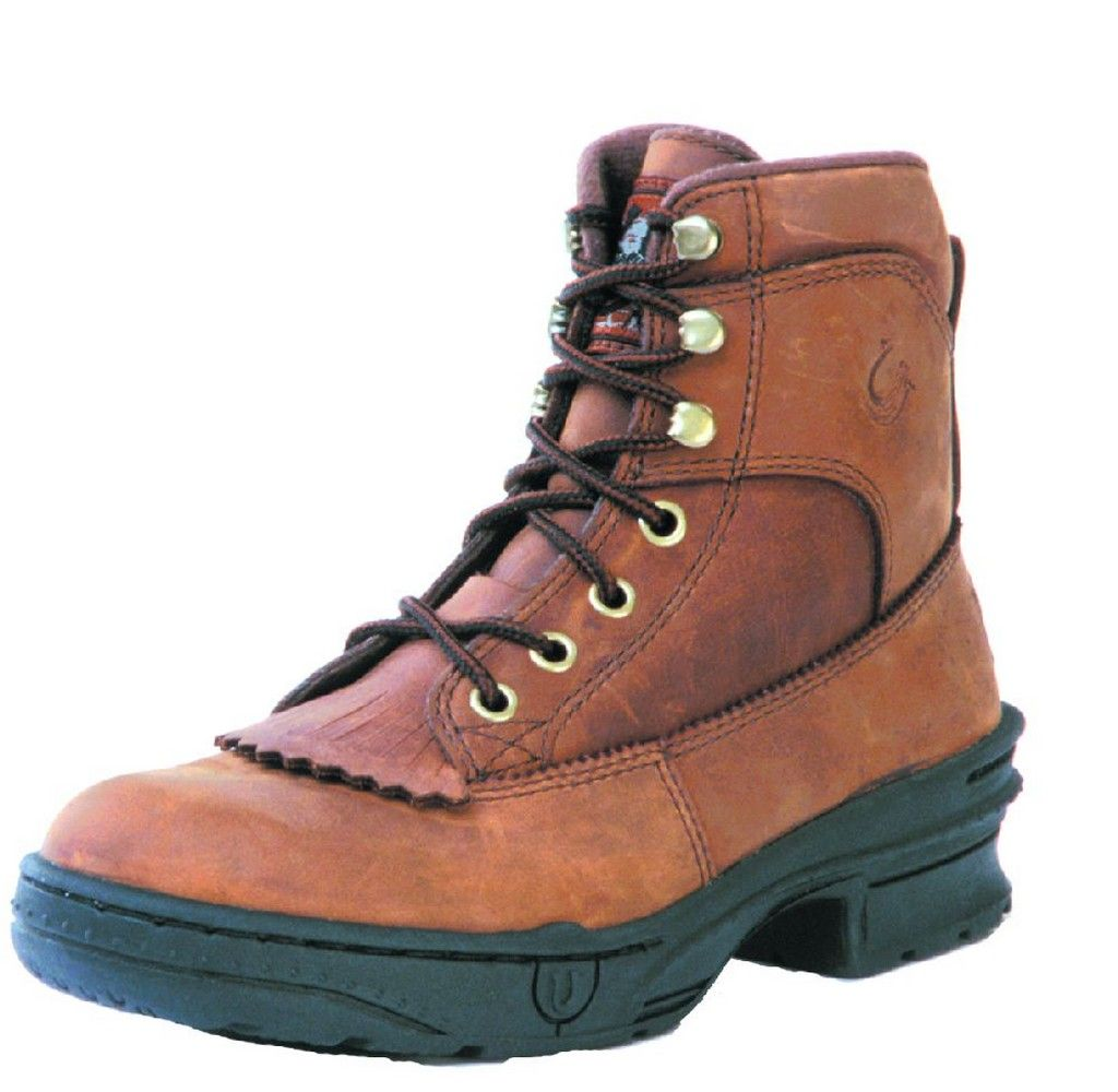 Roper Western Boots Mens Crossrider Lace Up Brown 09-020-0360-0503 BR