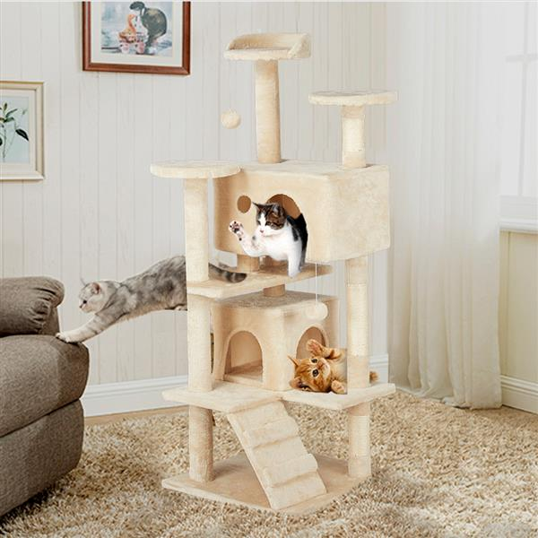 "Topeakmart 51.2"" Cat Kitten Pet House Tree Tower Scratch Condo Furniture"