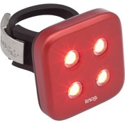 Knog Blinder 4 Dots USB Rechargeable Taillight: Red LED~ Red Body