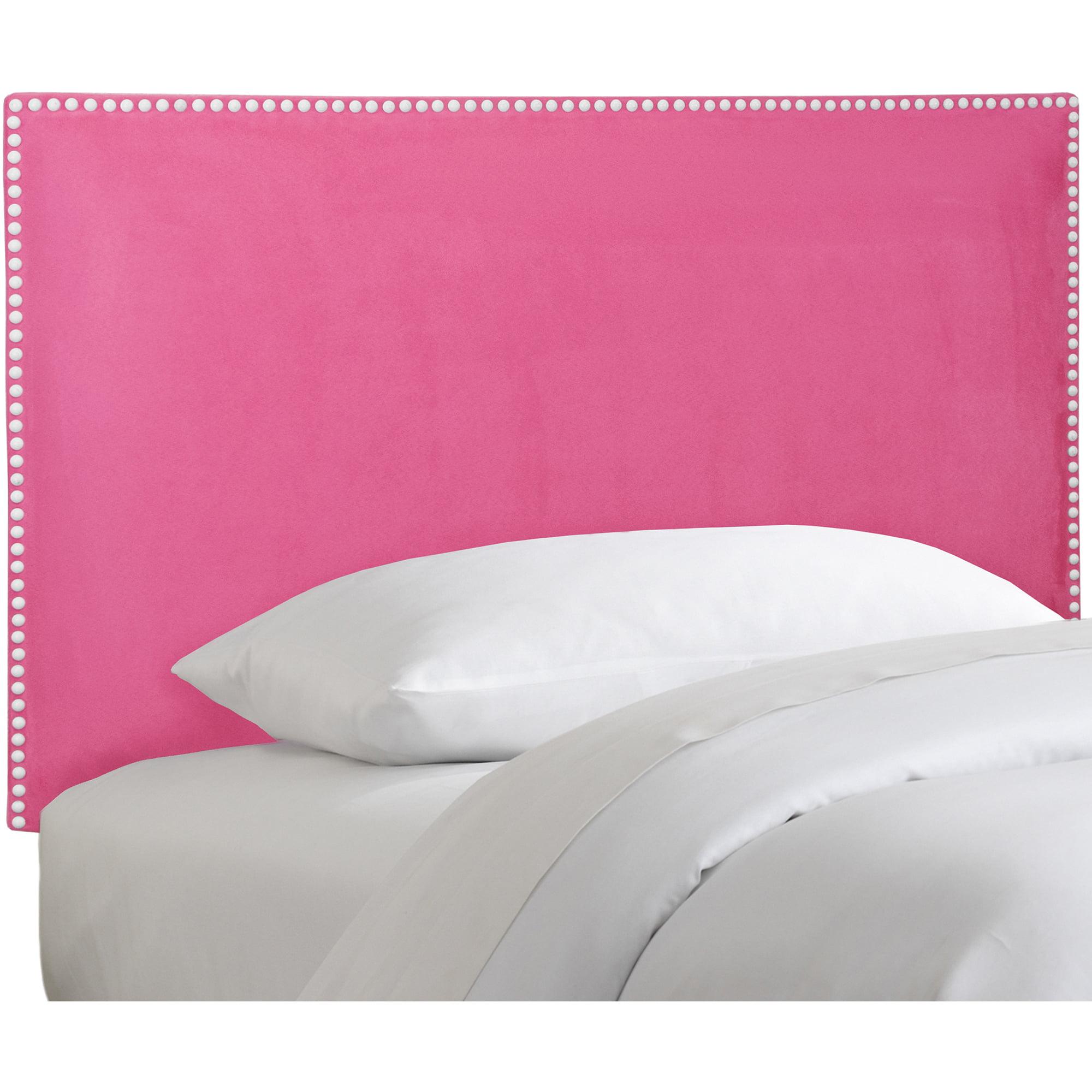 Skyline Furniture Premier Hot Pink Nail Button Border Headboard