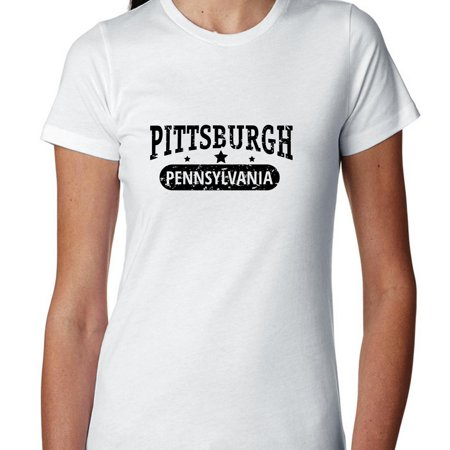 Trendy Pittsburgh  Pennsylvania With Stars Womens Cotton T Shirt