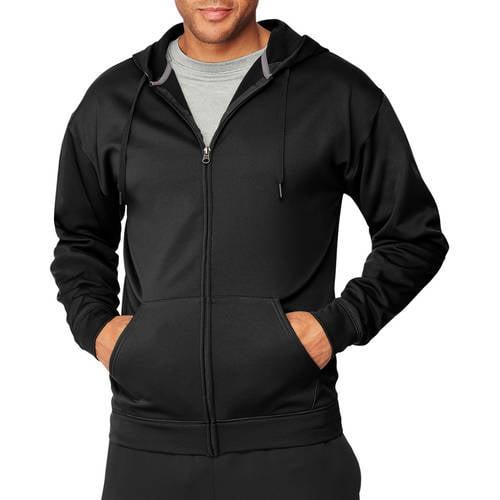 16f1083233883 Hanes - Sport Men's Performance Fleece Full-Zip Hoodie - Walmart.com