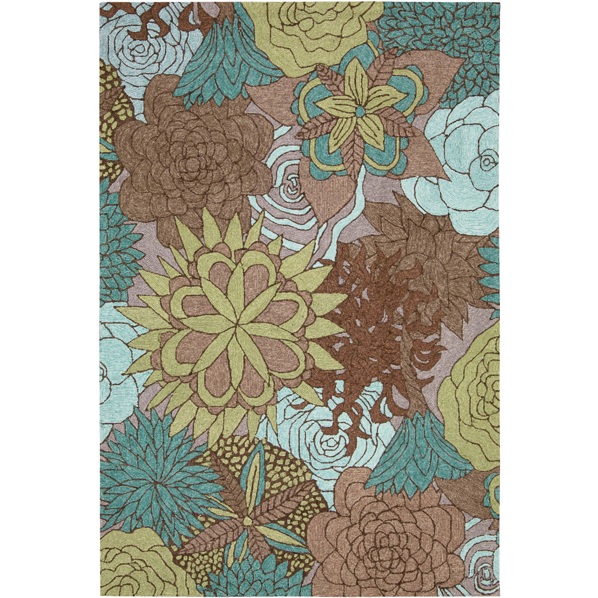 Nourison South Beach Indoor/ Outdoor Floral Area Rug
