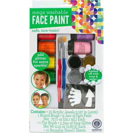 Kids Craft Face Paint Mega Set by Horizon Group USA - Cute Face Paints For Halloween