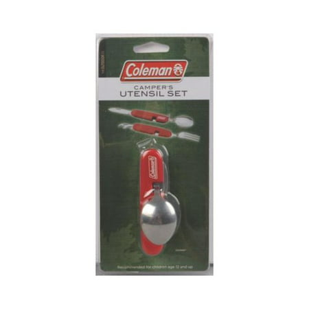 Coleman Camping Utensil Set and Bottle Opener, Stainless Steel