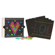"Lite Brite - Mini 3.5"" - Includes 4 Templates and 80 Colored Pegs"