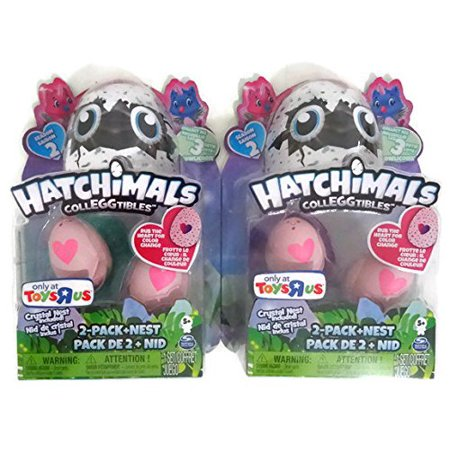 Halloween En Toys R Us (Exclusive CollEGGtibles Owlicorn Season 2 2-Pack + Nest (Set of 2), Bundle of 2 Toys R Us Exclusive Owlicorn Hatchimals Colleggtibles 2-Packs By)