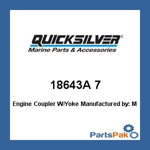 Mercury - Mercruiser 18643A 7 Mercury Quicksilver 18643A 7 Engine Coupler W/Yoke- ()