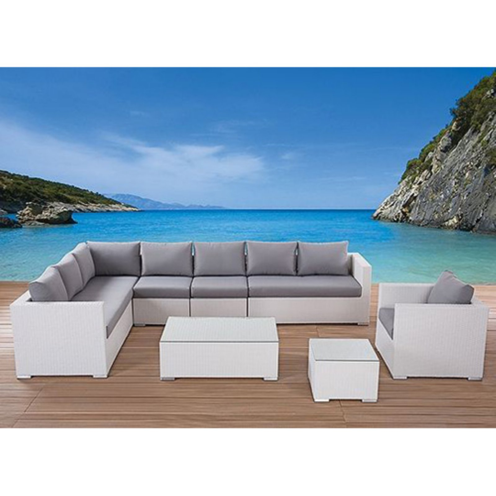 Velago Generoso Wicker 7 Piece Patio Conversation Set by 1291 Furnitures Inc
