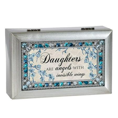 - Cottage Garden PJ145SC Daughter Jeweled Silver Music Box