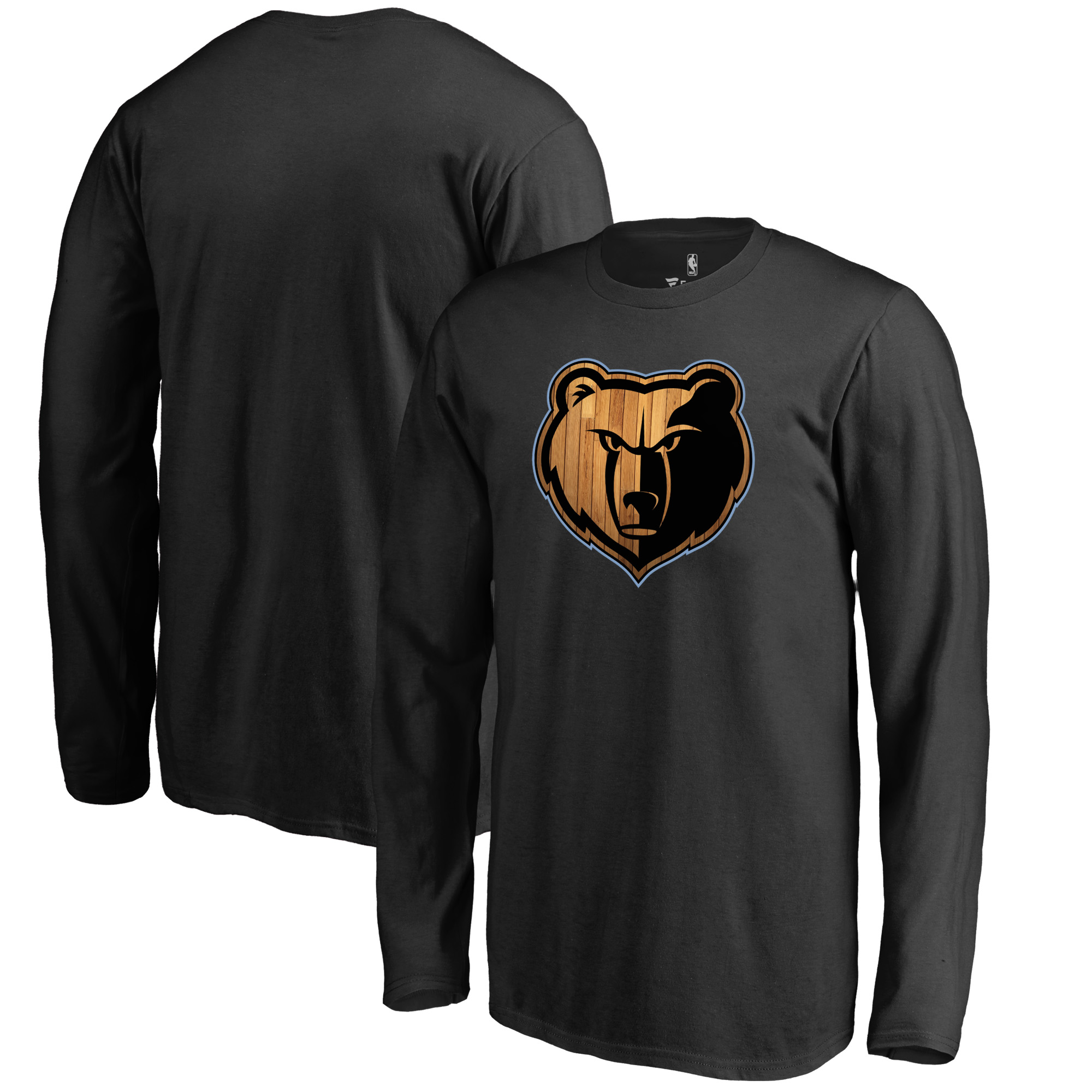 Memphis Grizzlies Fanatics Branded Youth Hardwood Long Sleeve T-Shirt - Black