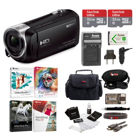 Sony HDR-CX405 Handycam Camcorder with Two 32GB Cards and Li-ion Battery Bundle (Sony Video Manuals)