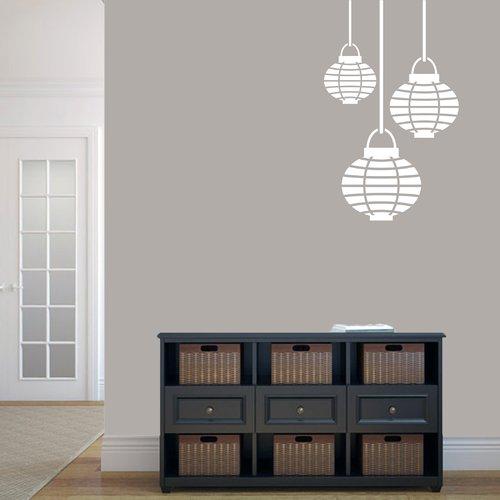 Ebern Designs Milewski Paper Lanterns Wall Decal (Set of 3)
