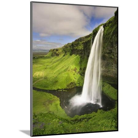Seljalandfoss Waterfall, South Coast, Iceland Wood Mounted Print Wall Art By Michele (Wall Mounted Waterfall)